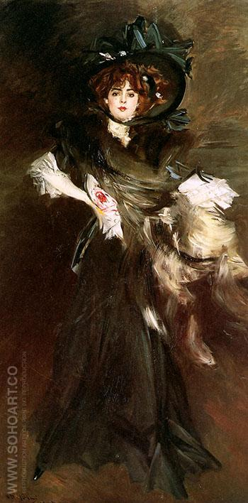 Mademoiselle Lanthelme 1907 - Giovanni Boldini reproduction oil painting