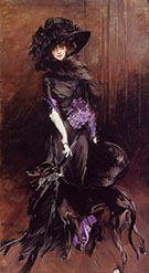 Portrai of the Marchesa Luisa Casati with a Greyhound 1908 - Giovanni Boldini