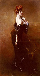Madame Pages in Evening Dress 1912 - Giovanni Boldini