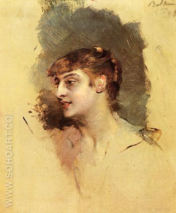 Portrait of a Lady 1912 1 - Giovanni Boldini reproduction oil painting