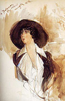 Portrait of Donna Franca Florio 1912 - Giovanni Boldini reproduction oil painting