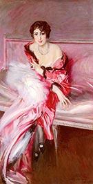 Portrait of Madame Juillard in Red 1912 - Giovanni Boldini