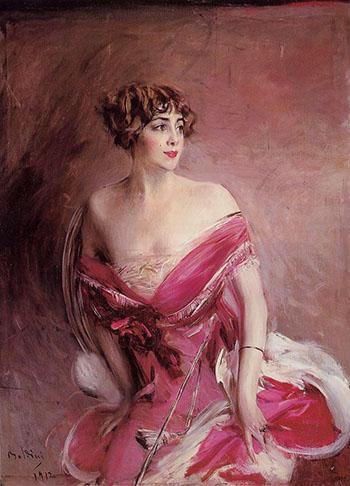 Portrait of Mlle de Gillespie La Dame de Biarritz 1912 - Giovanni Boldini reproduction oil painting