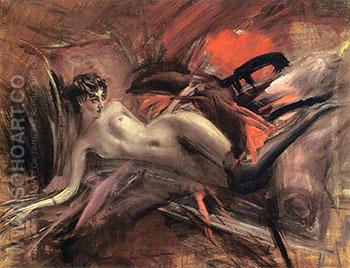 Reclining Nude II 1930 - Giovanni Boldini reproduction oil painting