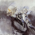 A Lady with a Cat - Giovanni Boldini reproduction oil painting