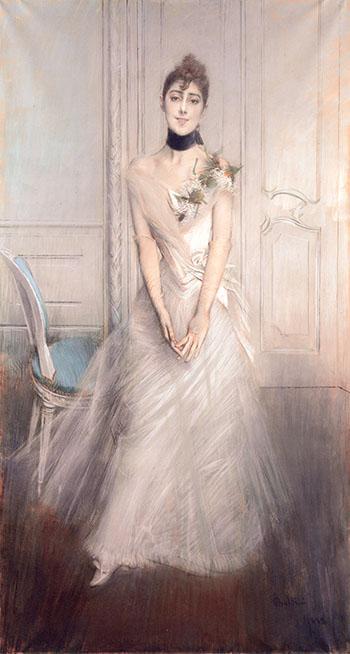 A Portrait of Emiliana Concha de Ossa - Giovanni Boldini reproduction oil painting