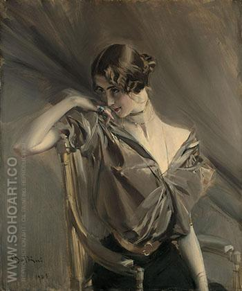 Cleo de Merode - Giovanni Boldini reproduction oil painting