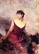 Countess de Rasty Seated in an Armchair - Giovanni Boldini reproduction oil painting