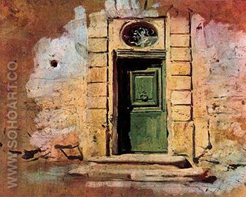 Door in Montmartre - Giovanni Boldini reproduction oil painting