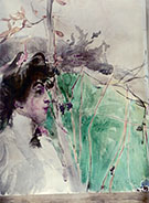 Female Profile - Giovanni Boldini reproduction oil painting