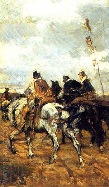 Horses and Knights - Giovanni Boldini reproduction oil painting