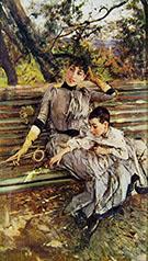 In Garden - Giovanni Boldini