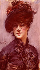 Lady with a Black Hat - Giovanni Boldini