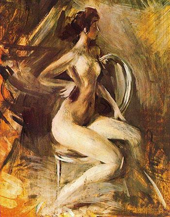 Nude 1 - Giovanni Boldini reproduction oil painting
