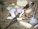 Nude Woman Reclining on Yellow Cushions - Giovanni Boldini