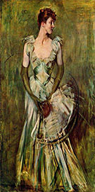 Portrait of Countess de Leusse - Giovanni Boldini