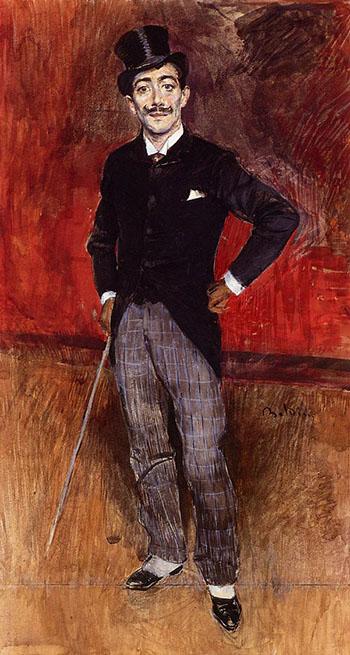 Portrait of the Comte de Rasty - Giovanni Boldini reproduction oil painting