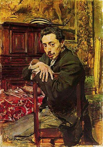 Portrait of the Painter Joaquin Araujo Ruano - Giovanni Boldini reproduction oil painting