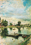 River Landscape - Giovanni Boldini reproduction oil painting