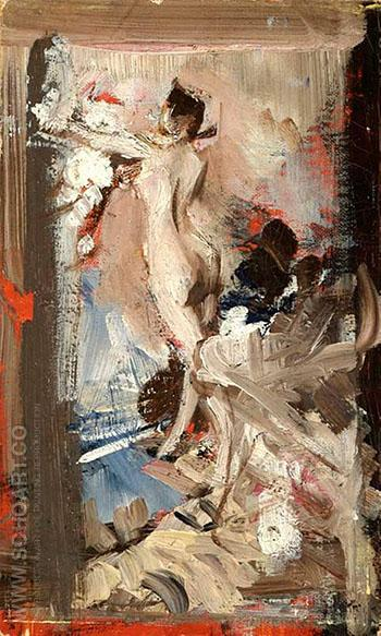 The Artist's Model Montecatini - Giovanni Boldini reproduction oil painting