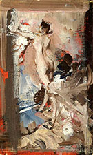 The Artist's Model Montecatini - Giovanni Boldini