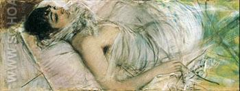The Countess de Rasty Lying - Giovanni Boldini reproduction oil painting