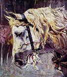 The Head of a Horse - Giovanni Boldini reproduction oil painting