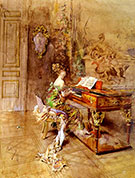 The Lady Pianist - Giovanni Boldini reproduction oil painting