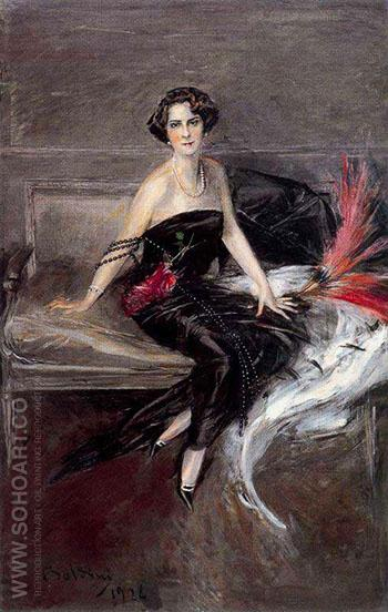 The Marquesa de Pinar Del Rio - Giovanni Boldini reproduction oil painting