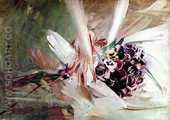 The Pansies - Giovanni Boldini reproduction oil painting