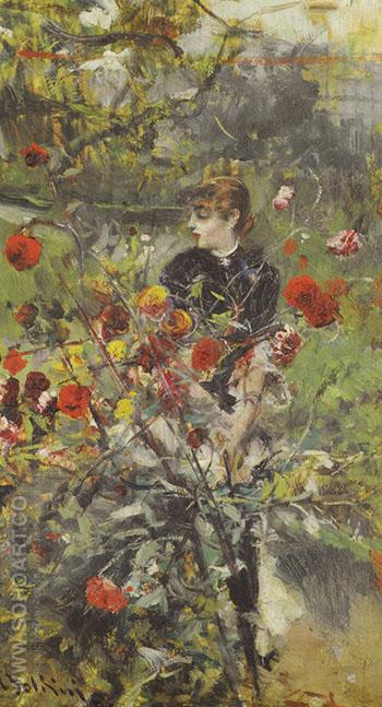 The Summer Roses - Giovanni Boldini reproduction oil painting