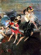 La Signora Edwards Con I Quattro Figli Ela Bambinaia 1922 - Giovanni Boldini