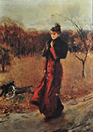 Walking in the Park in Naples - Giovanni Boldini