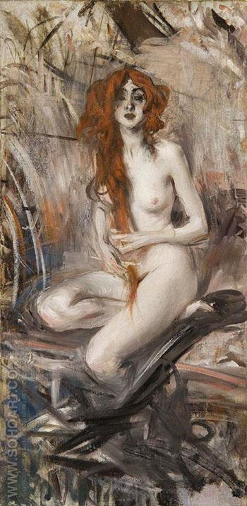 Nude - Giovanni Boldini reproduction oil painting