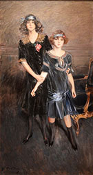 Consuelo And Muriel Vanderbilt - Giovanni Boldini reproduction oil painting