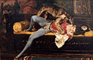 Games With Greyhound - Giovanni Boldini reproduction oil painting