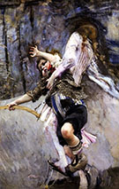 Child With Hoop - Giovanni Boldini reproduction oil painting
