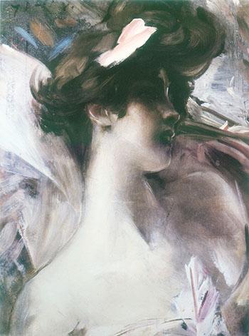 Testa di Giovane - Giovanni Boldini reproduction oil painting