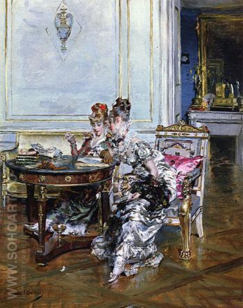 Confidences - Giovanni Boldini reproduction oil painting
