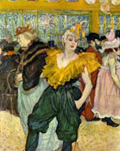 At the Moulin Rouge The Clowness Cha U Kao - Henri De Toulouse-lautrec