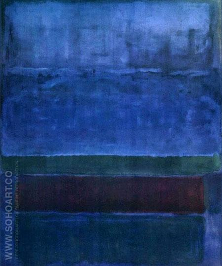 Cobalt Blue - Mark Rothko reproduction oil painting