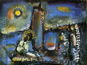 Christ on the Lake - George Rouault reproduction oil painting