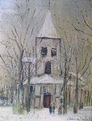 Eglise de Bourgnone Saint Vorles - Maurice Utrillo