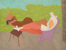March and Sally Outdoors 1950 - Milton Avery