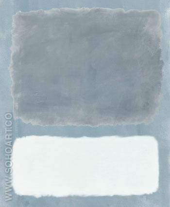 Untitled Blue Gray and White - Mark Rothko reproduction oil painting