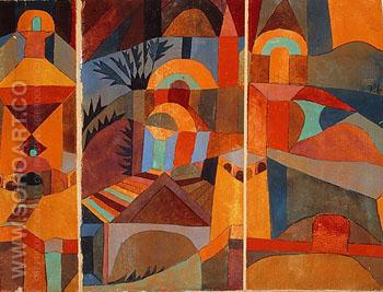 Temple Gardens 1920 - Paul Klee reproduction oil painting