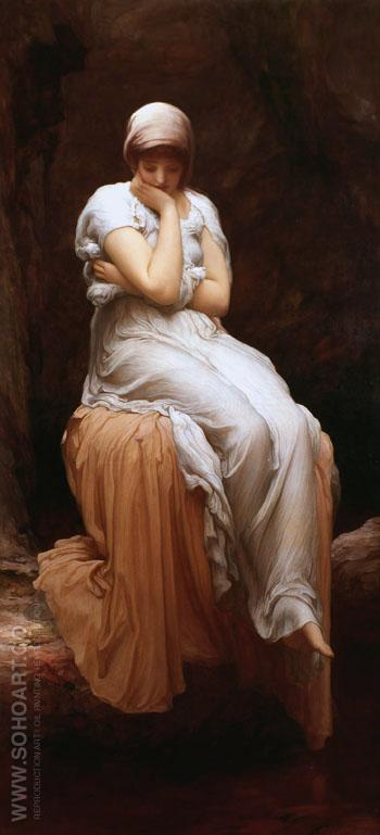 Solitude c1880 - Frederick Lord Leighton reproduction oil painting