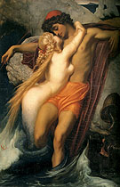 The Fisherman and the Siren c1856 - Frederick Lord Leighton