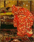 Girl in Red Kimono 1893 - George Hendrik Breitner
