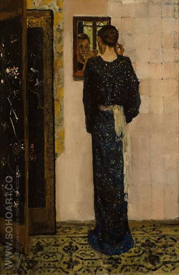 The Earring 1893 - George Hendrik Breitner reproduction oil painting